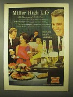 1965 Miller High Life Beer Ad - Sparkling Flavorful