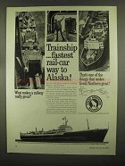 1965 Great Northern Railway Ad - Trainship Fastest