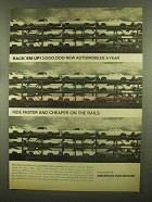 1965 Association of American Railroads Ad - Rack 'Em Up