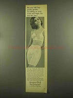 1965 Gossard Ad - Answer-Deb Pantie, Answer Bra