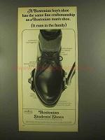 1965 Bostonian #95 Students' Shoe Ad - Craftsmanship