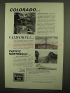 1965 Burlington Route Railroad Ad - Colorado