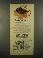 1965 Electrasol Dishwasher Detergent Ad - Even Tea