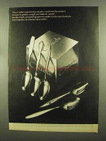 1965 Oneida Stainless Silverware Ad - Cantata, Textura