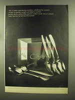 1965 Oneida Stainless Silverware Ad - Chatteau, Textura