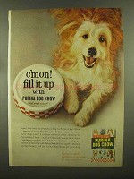 1965 Purina Dog Chow Ad - C'Mon Fill It Up