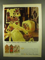 1965 Cannon Kitchen Towels Ad - Plantation Fruit