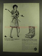 1965 Hoover Portable Canister Vacuum Cleaner Ad