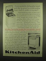 1965 KitchenAid Portable Dishwasher Ad - As Good