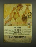 1965 Sealy Posturepedic Mattress Ad - Morning is as Good