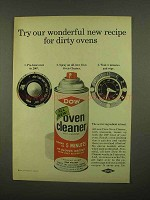 1965 Dow Oven Cleaner Ad - Recipe for Dirty Ovens