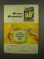 1965 Advanced All Detergent Ad - All-New All-Powerful