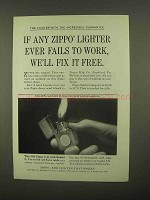 1965 Zippo Lighter Ad - Fix It Free