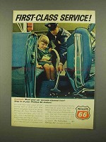 1965 Phillips 66 Petroleum Ad - First-Class Service