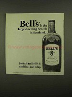 1965 Bell's Scotch Ad - Largest-Selling in Scotland