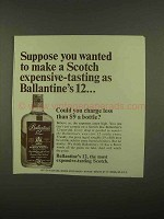 1965 Ballantine's 12 Scotch Ad - Expensive-Tasting