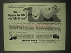 1965 Olympus Pen-F Camera Ad - Take It Easy