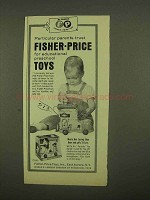 1965 Fisher-Price Toys Ad - Music Box Lacing Shoe