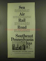 1965 Philadelphia Electric Company Ad - Sea Air Rail