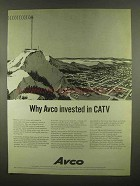 1965 AVCO CATV Ad - Why Avco Invested In