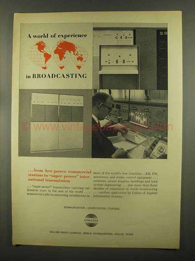 1965 Collins Broadcasting Ad - A World of Experience