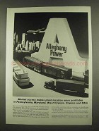 1965 Allegheny Power Ad - Market Access