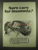 1965 Yellow Pages Ad - Sure Cure for Insomnia