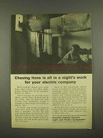 1965 Invester-Owned Electric Light & Power Companies Ad - Chasing