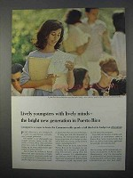 1966 Puerto Rico Development Ad - Lively Youngsters