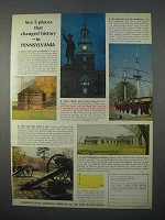 1966 Pennsylvania Tourism Ad - Places Changed History