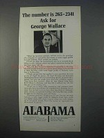1966 Alabama Development Ad - George Wallace - Number