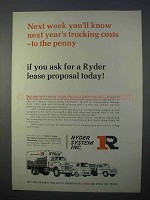 1966 Ryder System Ad - Know Next Year's Trucking Costs