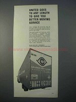 1966 United Van Lines Ad - Goes To Any Length