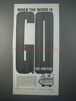 1966 United Van Lines Ad - When The Word Is Go