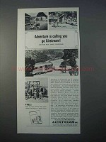 1966 Airstream Travel Trailer Ad - Adventure is Calling