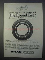 1966 Atlas Plycron Tire Ad - How Many Service Stations