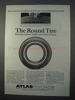 1966 Atlas Plycron Tire Ad - A Penny Can Tell You