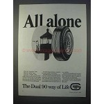 1966 General Dual 90 Tire Ad - All Alone