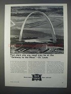 1966 Rock Island Railroad Ad - The Plant Site You Need