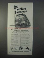 1966 Great Northern Railway Ad - Traveling Salesman