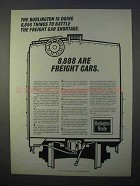 1966 Burlington Route Railroad Ad - Car Shortage