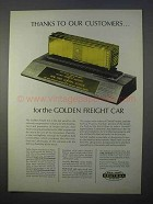 1966 New York Central Railroad Ad - Golden Freight Car
