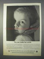 1966 The United Way Ad - You Can Make Her Smile