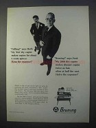 1966 Bruning 2000 Dry Copier Ad - Hang the Expense