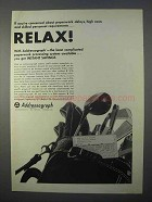 1966 Addressograph Master Records Ad - Relax!