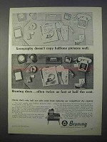 1966 Bruning 2000 Copier Ad - Halftone Pictures