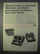 1966 SCM Marchant Calculator Ad - Two-Step, Transmatic