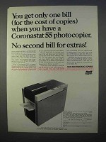 1966 SCM Coronastat 55 Copier Ad - Get Only One Bill