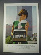 1966 Monroe Mach 1.07 Printing Calculator Ad - Resolved