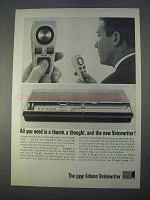 1966 Edison Voicewriter Ad - All You Need is a Thumb
